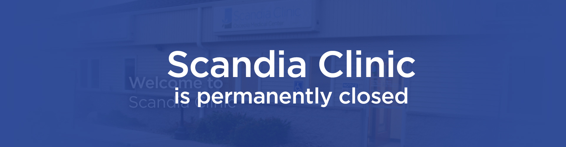 Welcome to Scandia Clinic Banner